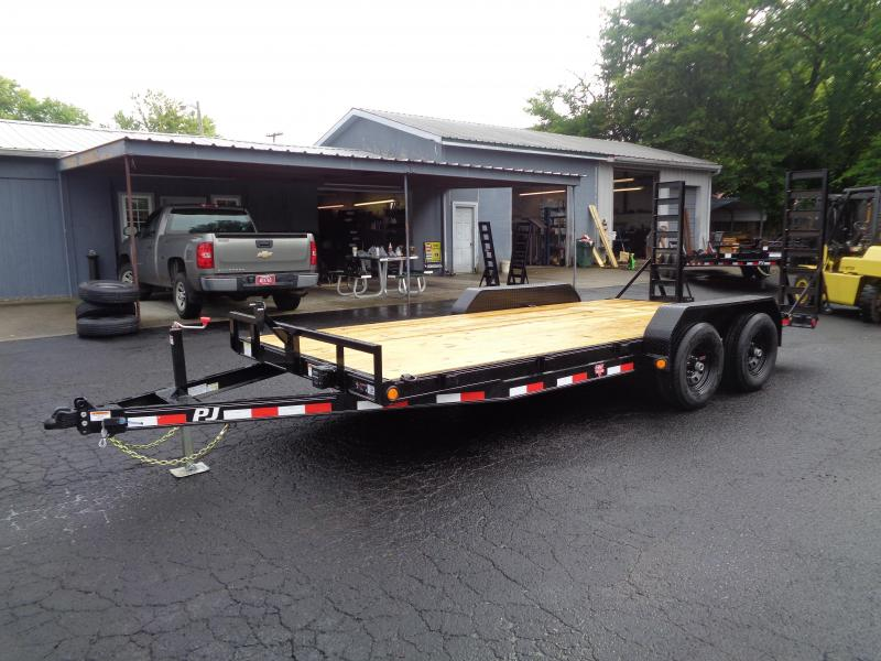 2021 PJ Trailers 18' x 5 in. Channel Equipment (CE) Equipment Trailer
