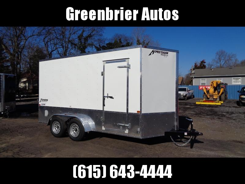 2021 Homesteader Intrepid 7' x 14' x 7' OHV Pkg Enclosed Cargo Trailer