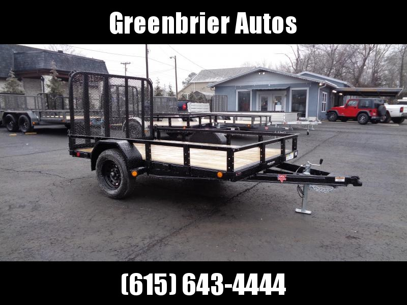 "2021 PJ Trailers 10' x 77"" Single Axle Channel Utility (U7) Utility Trailer"