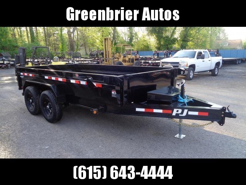 "2021 PJ Trailers 14' x 83"" Low-Profile Dump (DG) Dump Trailer"