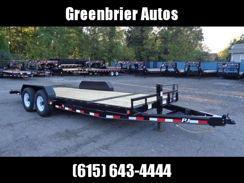 2020 PJ Trailers 20 x 6 in. Channel Equipment Tilt (T6) Equipment Trailer