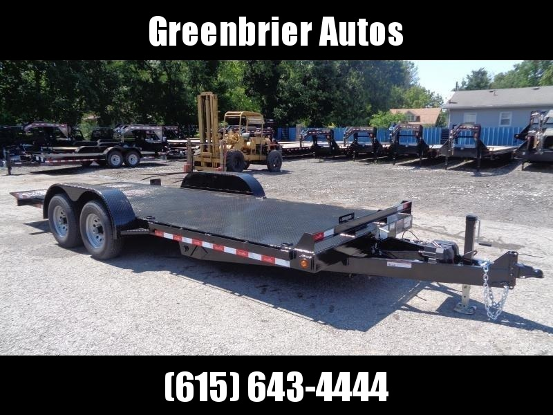 2021 Hawke Trailers 20' 10K GVWR Standard Power Tilt Equipment Trailer