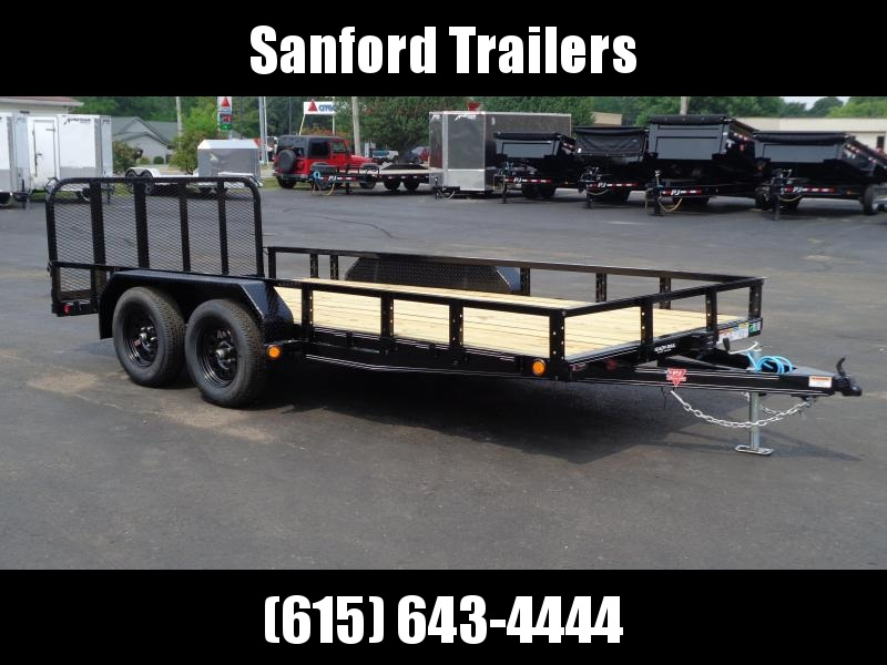 "2022 PJ Trailers 16' x 83"" Tandem Axle Channel Utility (UL) Utility Trailer"