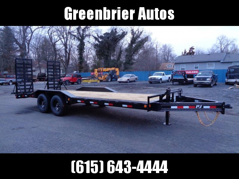 "2021 PJ Trailers 22' x 8"" Pro-Beam Super-Wide Equip (H6) Equipment Trailer"