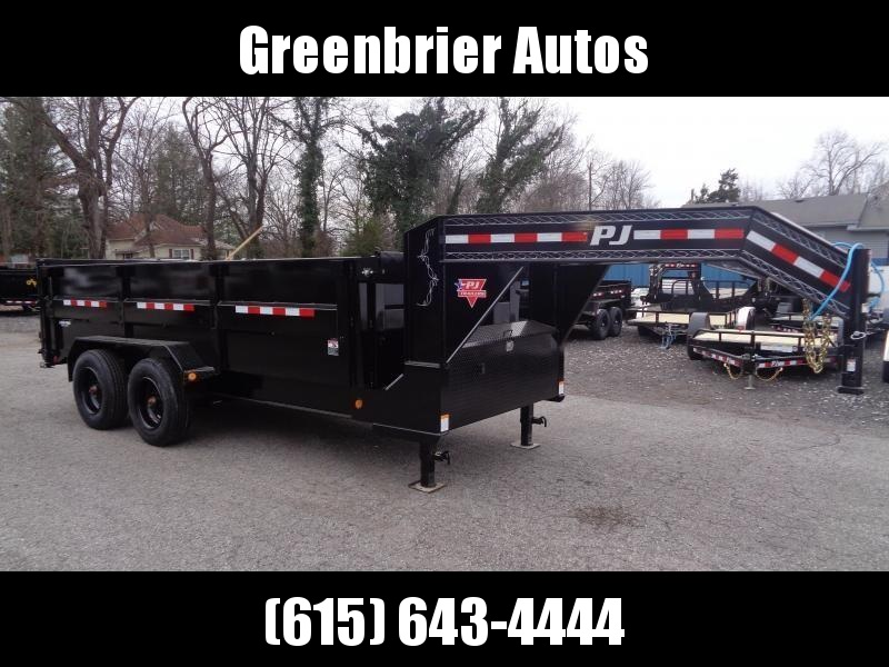 "2021 PJ Trailers 16' x 83"" HD Low-Pro Dump (DE) Dump Trailer"