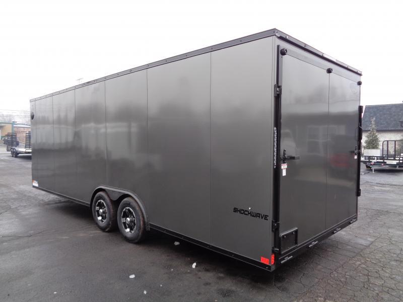 2021 Impact Trailers Shockwave Blackout 8.5' x 24' x 7' Car Hauler Enclosed Cargo Trailer