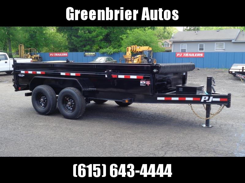 "2021 PJ Trailers 14' x 83"" Low Pro Dump w/ 8k Axles (DX) Dump Trailer"