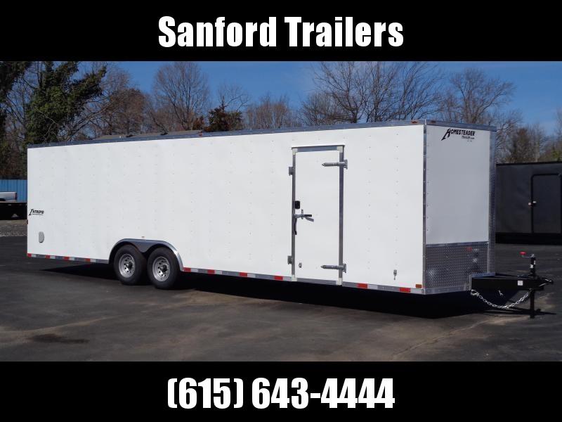 "2021 Homesteader Intrepid 8.5' x 28' x 6'6""' Enclosed Car Trailer"