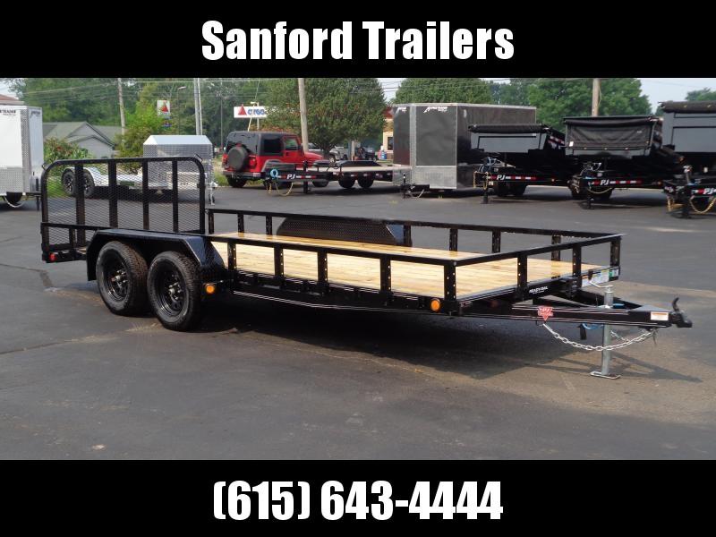 "2022 PJ Trailers 18' x 83"" Tandem Axle Channel Utility (UL) Utility Trailer"