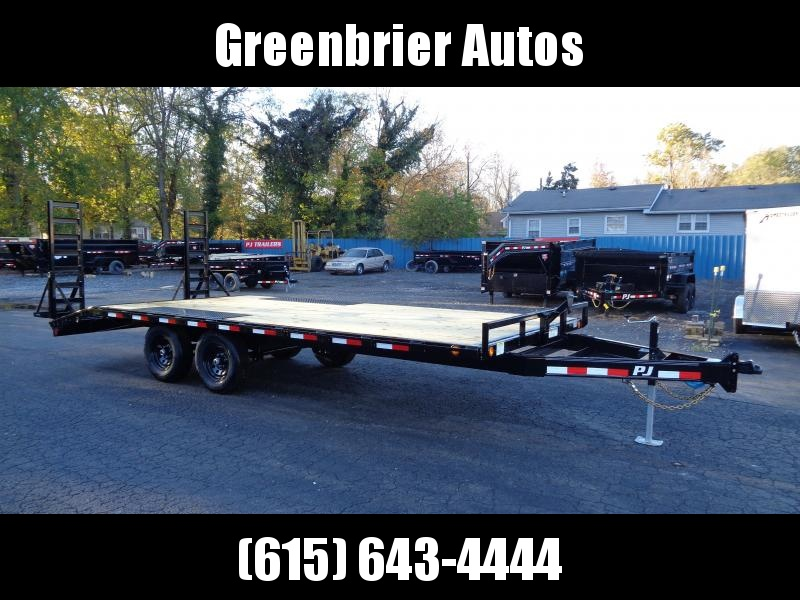 2021 PJ Trailers 20' Medium Duty Deckover 6 in. Channel (L6) Flatbed Trailer