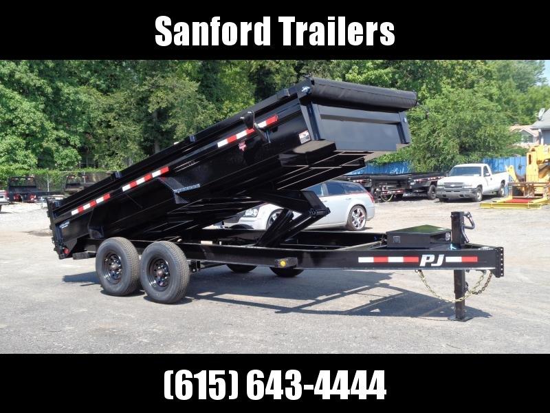 "2022 PJ Trailers 16' x 83"" Low Pro Dump w/ 8k Axles (DX) Dump Trailer"