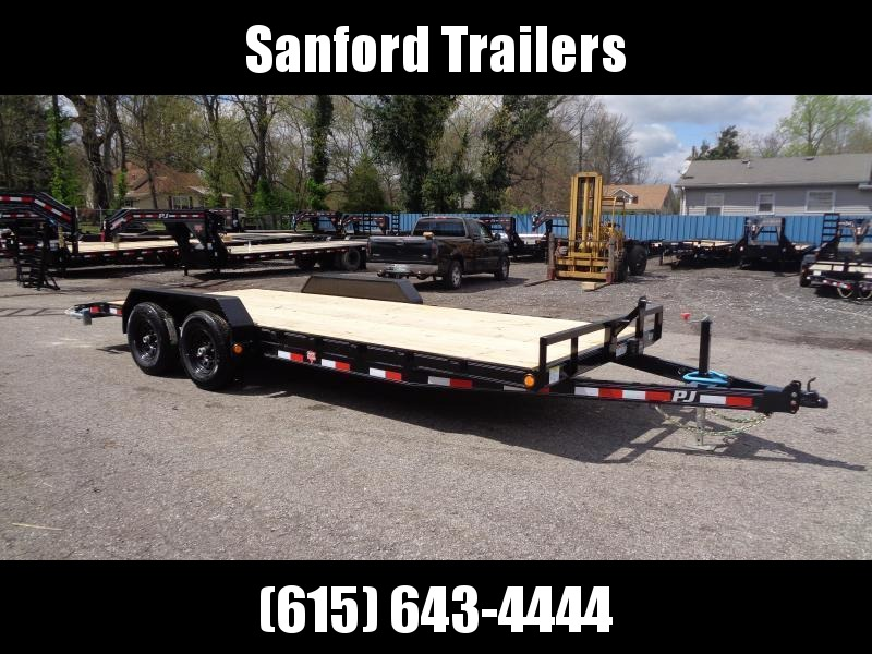 2022 PJ Trailers 20' x 5 in. Channel Equipment (CE) Equipment Trailer
