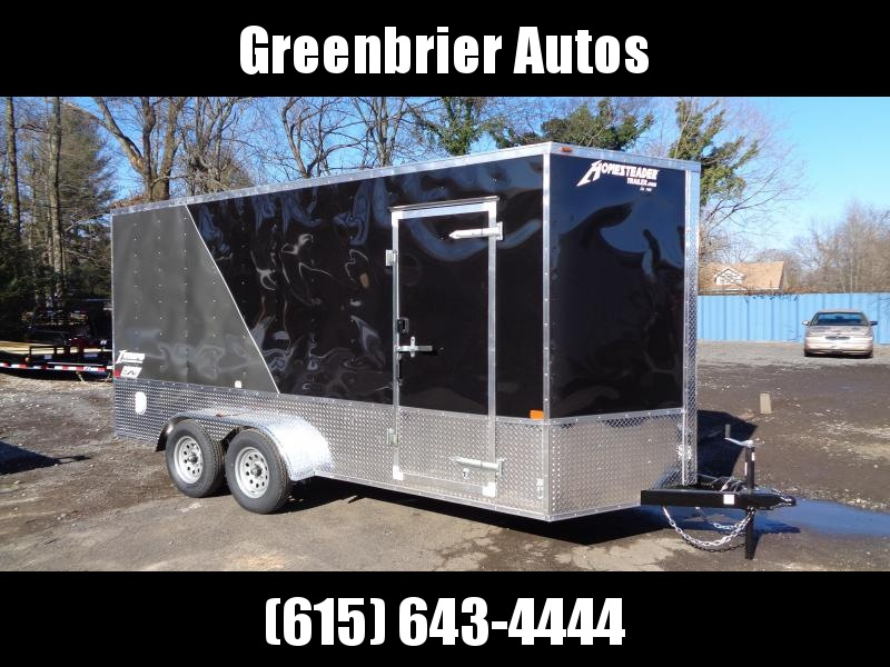 2021 Homesteader Intrepid 7' x 16' x 7' OHV Pkg Enclosed Cargo Trailer