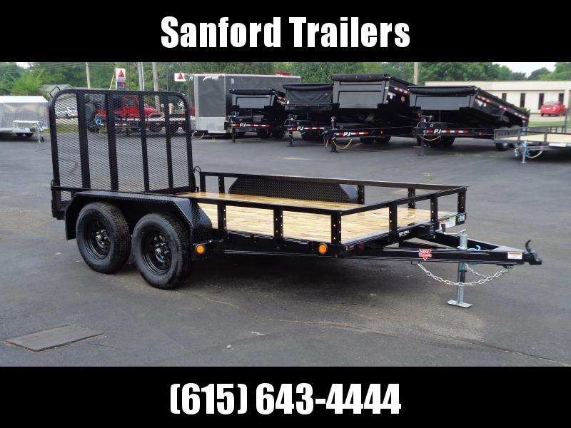 "2022 PJ Trailers 12' x 83"" Tandem Axle Channel Utility (UL) Utility Trailer"