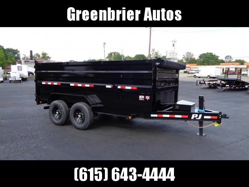 "2021 PJ Trailers 14' x 83"" Low Pro High Side Dump (DM) Dump Trailer"