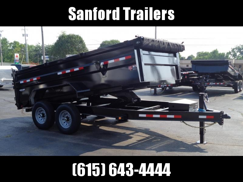 "2021 PJ Trailers 14' x 83"" Pro-Series Low Pro High Side Dump (DM) Dump Trailer"