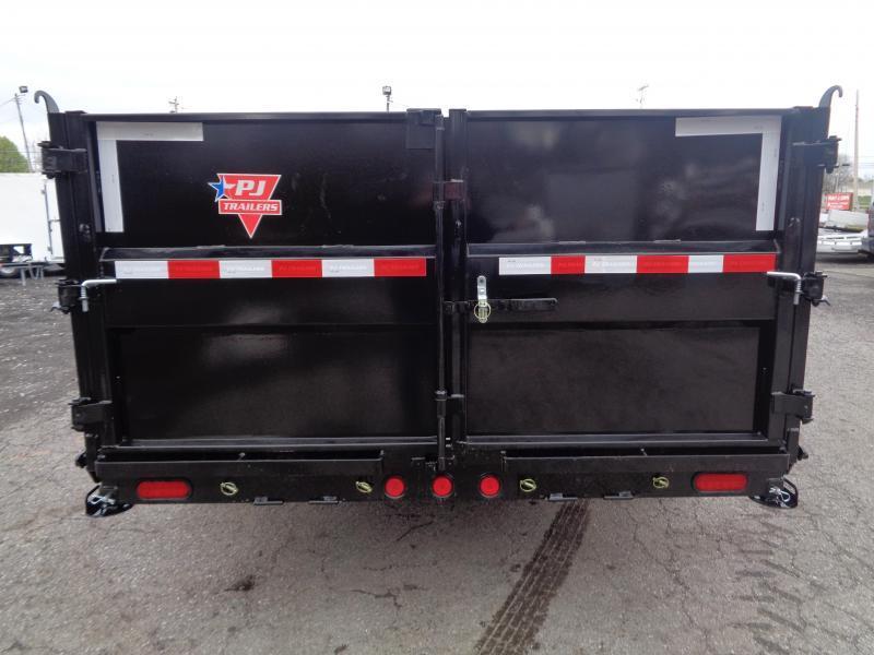 """2021 PJ Trailers 16' x 83"""" HD Low-Pro Dump (DE) w/ Hydraulic Jacks"""