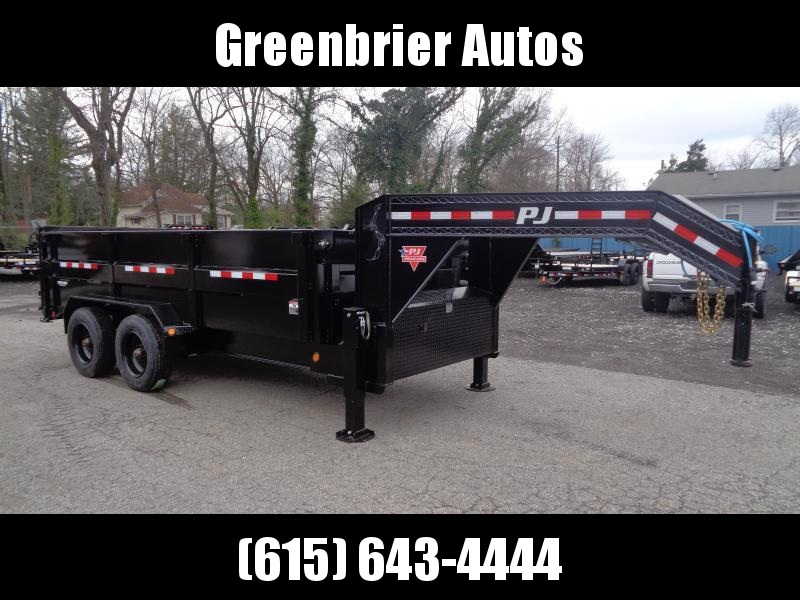 "2021 PJ Trailers 16' x 83"" HD Low-Pro Dump (DE) w/ Hydraulic Jacks"