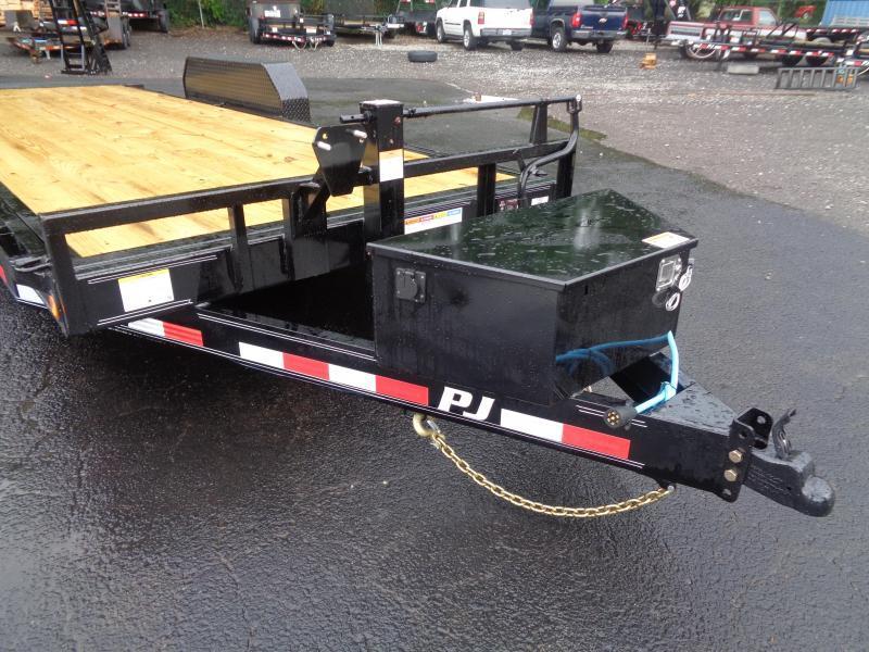 2021 PJ Trailers 20' Powered Full Tilt (TF) Equipment Trailer