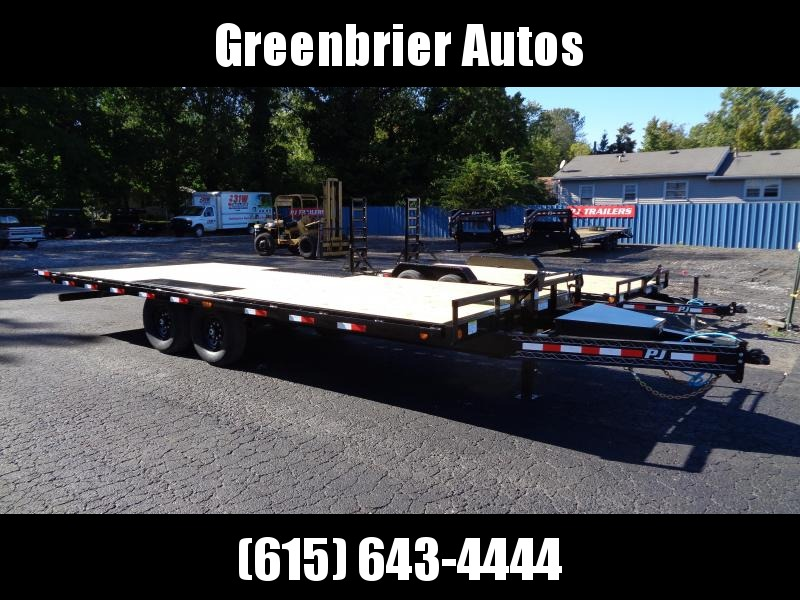 2021 PJ Trailers 22' Deckover Tilt (T8) Equipment Trailer