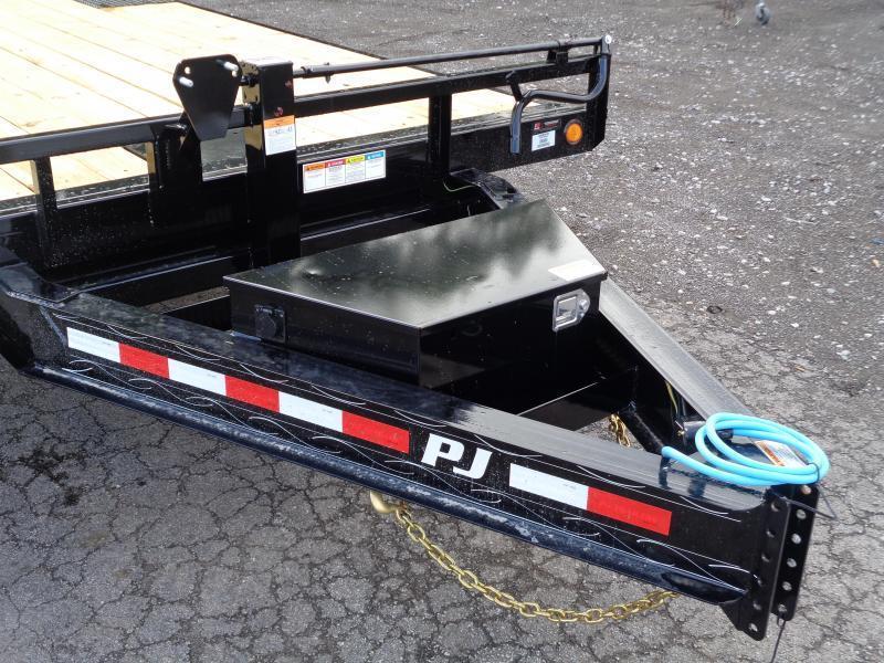 2022 PJ Trailers 22' Deckover Tilt (T8) Flatbed Trailer