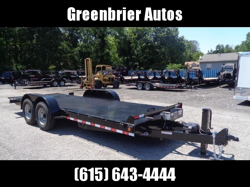 2021 Hawke Trailers 20' 15K GVWR HD Power Tilt Equipment Trailer
