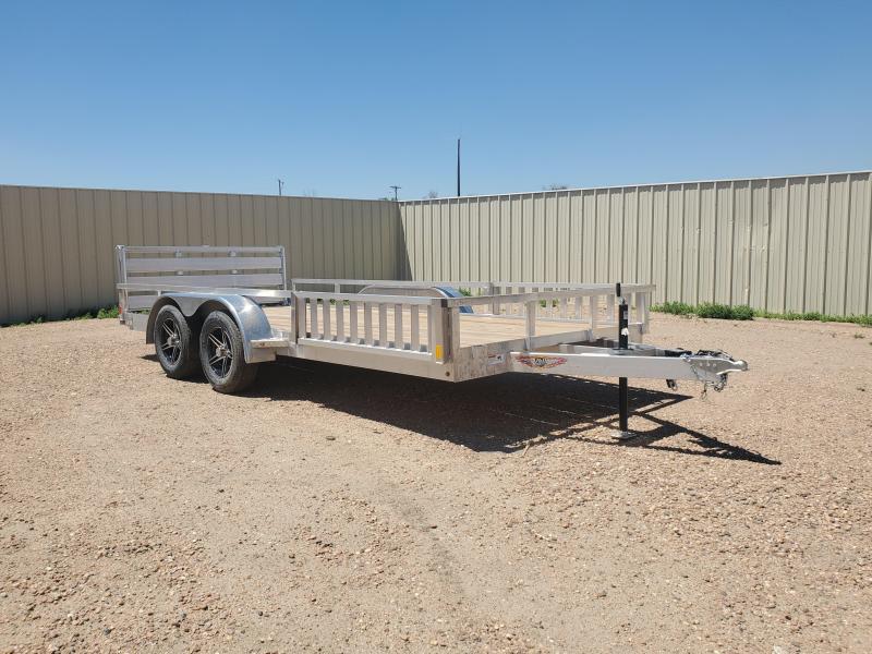 2021 H and H Trailer 82x16 Aluminum ATV Trailer 7K Tandem (H8216TRSAV-070) ATV Trailer
