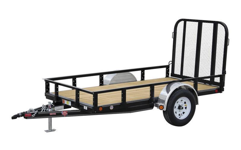 "2022 PJ Trailers 8' x 60"" Single Axle Channel Utility (U6) Utility Trailer- Red"