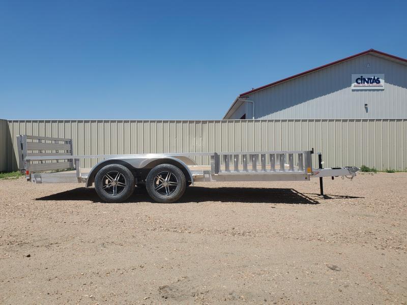 "2021 H and H Trailer 16' x 82"" Aluminum ATV Trailer 7K Tandem (H8216TRSAV-070) ATV Trailer"
