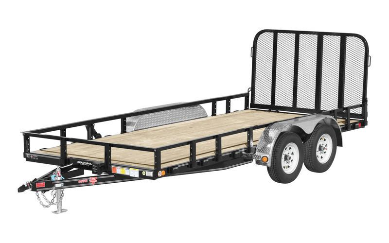 "2022 PJ Trailers 16' X 83"" Tandem Axle Channel Utility (UL) Utility Trailer- Red"