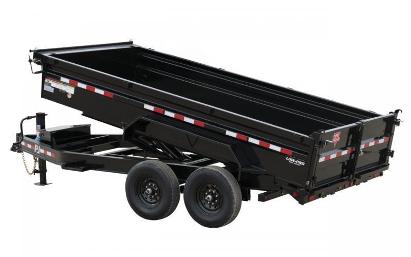 "2021 PJ Trailers 83"" x 12' 14K Low-Profile Dump PRO (DL) Trailer"