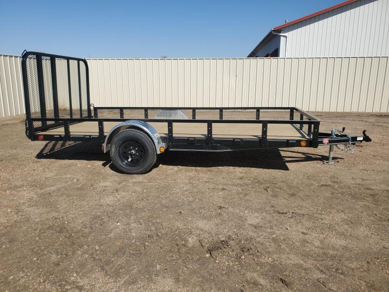 "2021 PJ Trailers 83"" x 14' 83"" Single Axle Channel Utility (U8) Trailer"