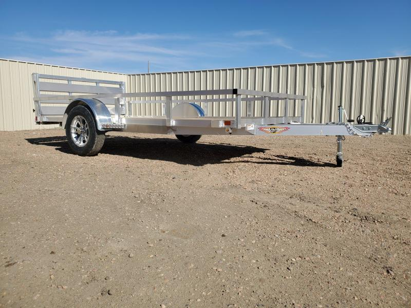 2021 H and H Trailer 82x14 Aluminum Rail Side Utility Trailer 3K Idler (H8214RSA-030) Utility Trailer
