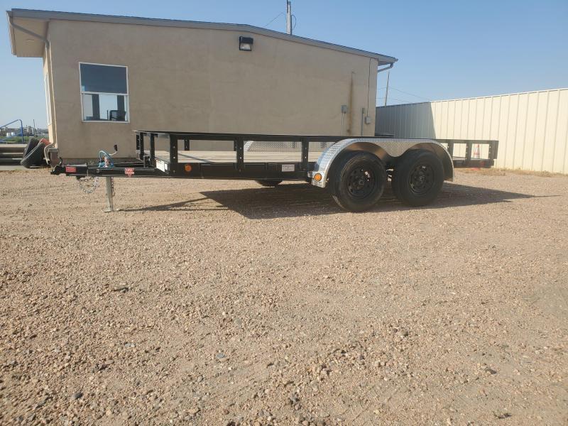 "2021 PJ Trailers 14' x 83"" Tandem Axle Channel Utility (UL) Utility Trailer"