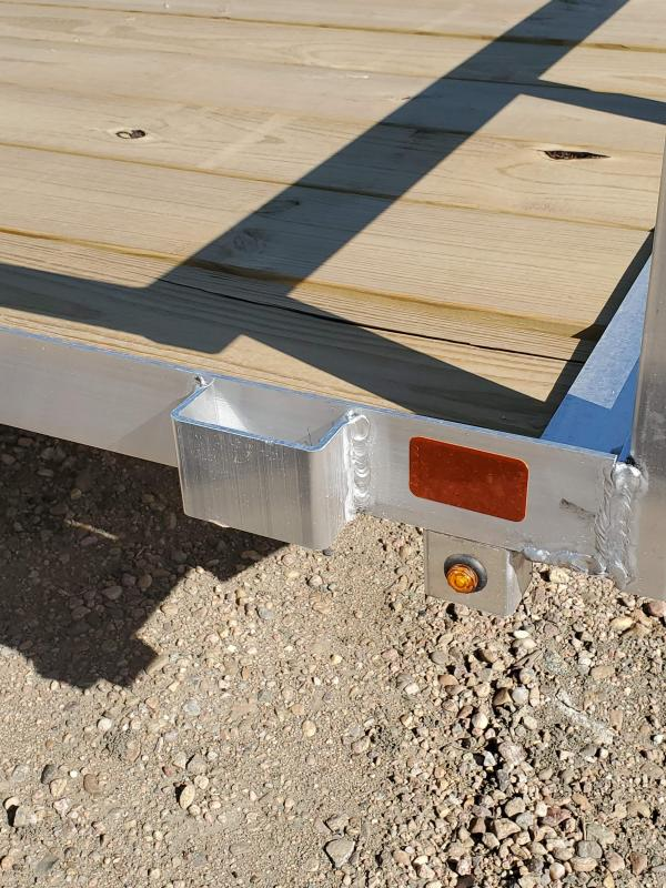 """2021 H and H Trailer 14' x 82"""" Aluminum Rail Side Utility Trailer 3K Idler (H8214RSA-030) Utility Trailer"""