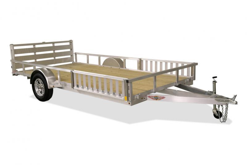 2021 H and H Trailer 82x14 Aluminum ATV Trailer 3K Idler (H8214RSAV-030) ATV Trailer