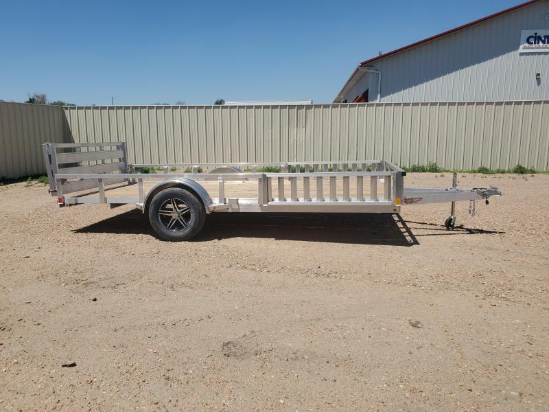 """2021 H and H Trailer 14' x 83"""" Aluminum ATV Trailer 3K Idler (H8214RSAV-030) ATV Trailer"""
