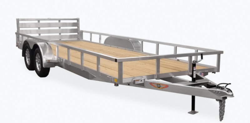 2021 H and H Trailer 82x16 Aluminum Rail Side Utility Trailer 7K Tandem (H8216TRSA-070) Utility Trailer