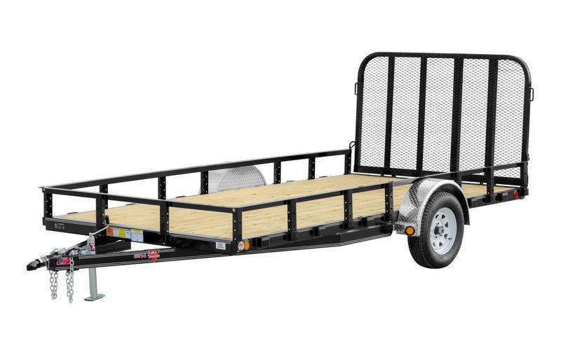 """2021 PJ Trailers 83"""" x 14' Single Axle Channel Utility w/ Side Mount ATV Ramps (U8) Utility Trailer"""