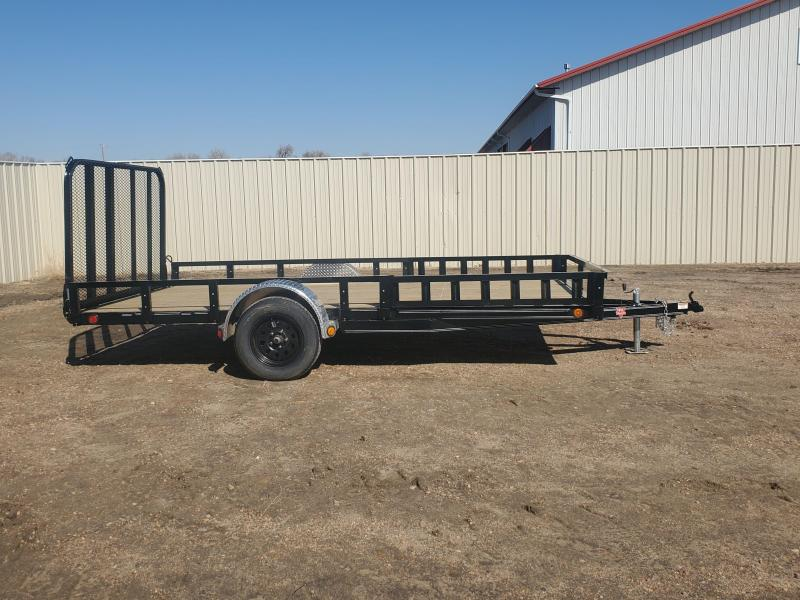 "2021 PJ Trailers 83"" x 14' 83"" Single Axle Channel Utility (U8)"