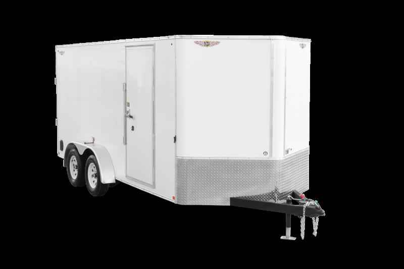 2021 H and H Trailer 7x14 HH Series Flat Top V-Nose Enclosed Cargo Trailer 7K Brake (H8414TFTV-070) Enclosed Cargo Trailer