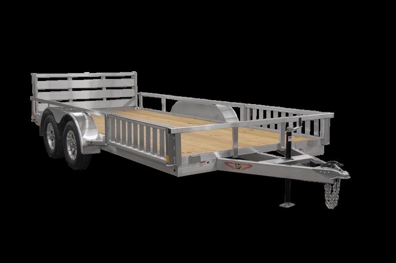 "2021 H and H Trailer 16' x 83"" Aluminum ATV Trailer 7K Tandem (H8216TRSAV-070) ATV Trailer"