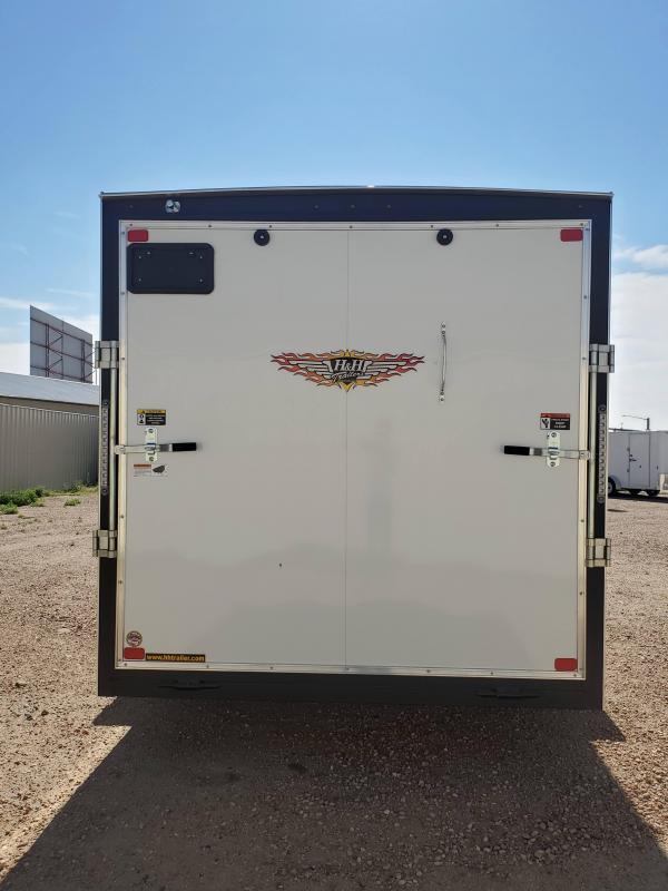2021 H and H Trailer 7x16 HH Series Flat Top V-Nose Enclosed Cargo Trailer 7K Brake (H8416TFTV-070) Enclosed Cargo Trailer