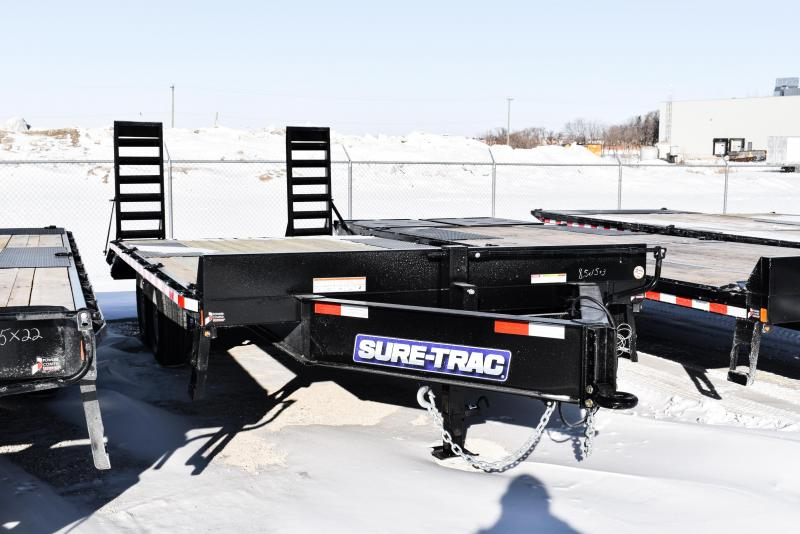 2021 Sure-Trac 8.5 x 15+3 Heavy Duty Low Profile Beavertail Deckover 14K