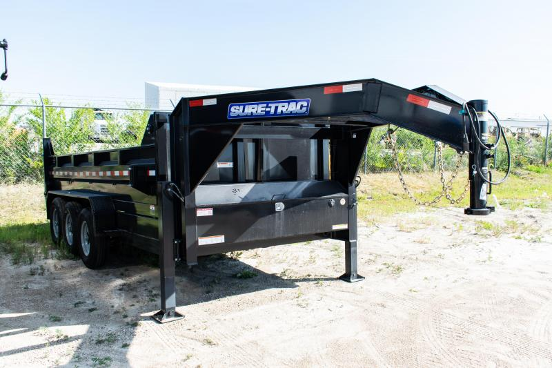 2020 Sure-Trac 7 x 16 Gooseneck HD Low Profile Dump (Telescopic) Dump Trailer