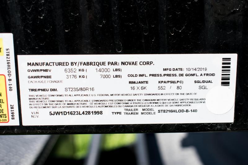 2020 Sure-Trac 7 X 16 LP 14K Scissor Dump Trailer