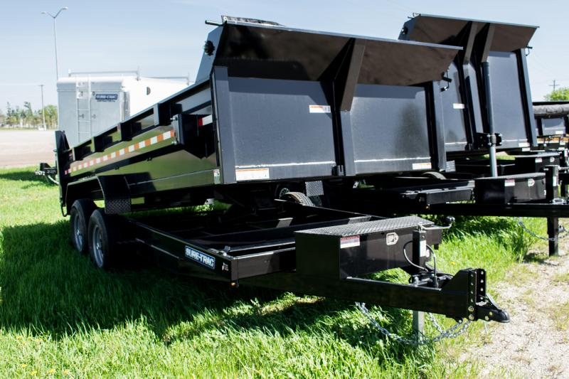 2020 Sure-Trac 7 X 16 LP 14K Scissor Dump Trailer