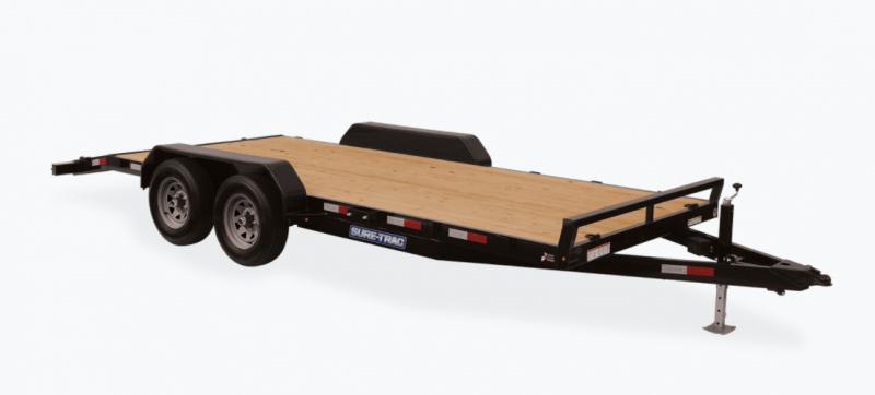 2021 Sure-Trac 7 x 20 (18+2) C-Channel Car Hauler Trailer 10K