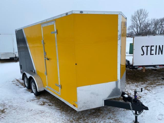 "2021 Cargo Mate 7 x 16 Enclosed Cargo Trailer +12""  7K Ramp"