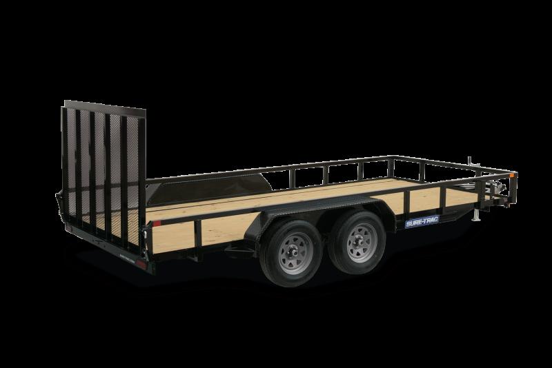 2021 Sure-Trac 7 x 16 Tube Top Utility Trailer 7K Tandem